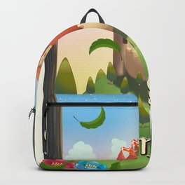 Nottingham Castle Travel poster Backpack