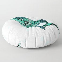 Coral Reef Humpback Whale Floor Pillow