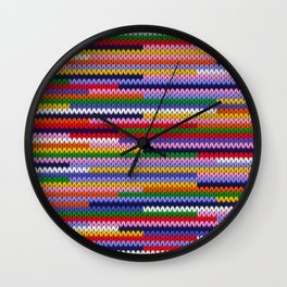 Knitted random lines Wall Clock