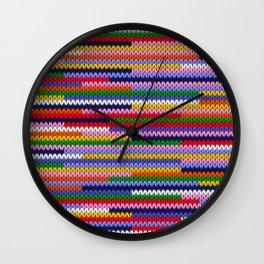 Knitted random lines Wall Clock