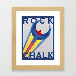 ROCK CHALK JAYHAWK Framed Art Print