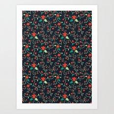 Tangled Flowers Art Print