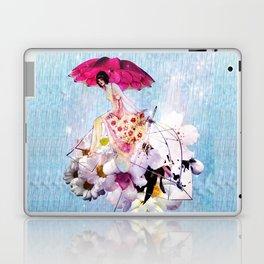 Rainy Bouquet Girl Laptop & iPad Skin