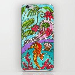 Seahorse Paisley iPhone Skin