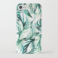 tropical iPhone & iPod Cases featuring Green Tropical paradise  by Nikkistrange
