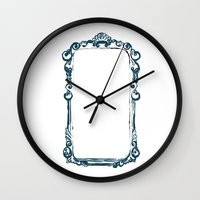 frame Wall Clocks featuring frame by k. Reinstein