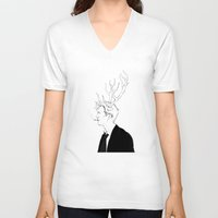 true detective V-neck T-shirts featuring True Detective by Burcu Aycan