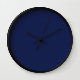 Solid Navy blue Wall Clock