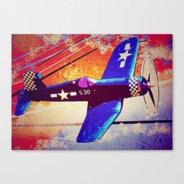 F4U Corsair Pop Art Canvas Print