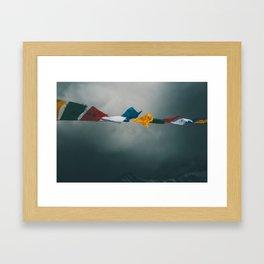 Prayer Flag Framed Art Print