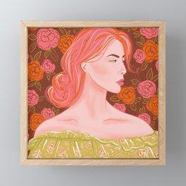 Pink haired woman Framed Mini Art Print