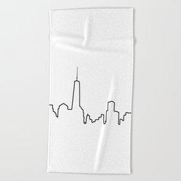 New York Life Line Beach Towel