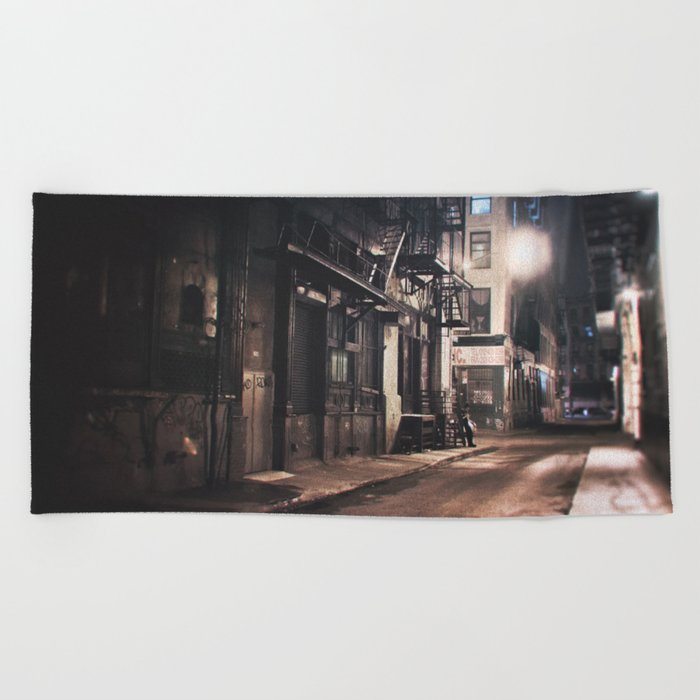 New York City - Small Hours After Midnight Beach Towel