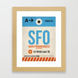 SFO San Francisco Luggage Tag 1 Framed Art Print