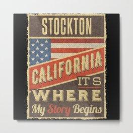 Stockton California Metal Print