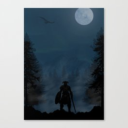 Skyrim | Warriors Landscapes Serries Canvas Print