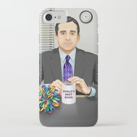 michael scott iPhone & iPod Cases featuring Steve Carell as Michael Scott (The Office) by Leo Maia