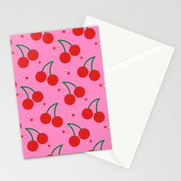 Cherry Bomb Pattern Stationery Cards