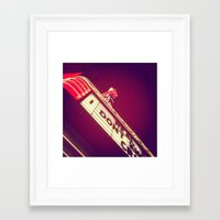 theatre Framed Art Prints featuring Theatre by Theresa O'Neill
