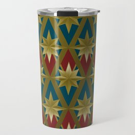 Gold Stars of a Hero Travel Mug