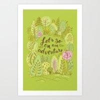 Motivational Poster Let's Go On An Adventure Colorful Poster Art Print colorful Motivational Poster  Art Print