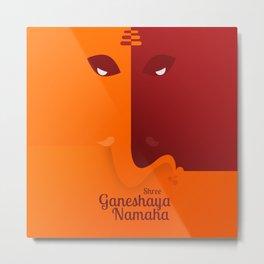 Shree Ganeshaya Namaha Metal Print