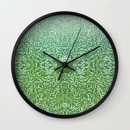 Tropical Winter, Green Jade Wall Clock