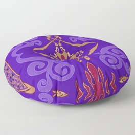 Aladdin Purple Magic Carpet Floor Pillow