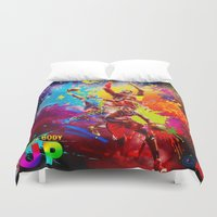 nba Duvet Covers featuring NBA by Don Kuing