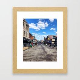 Memphis Beale Street in Technicolor Framed Art Print