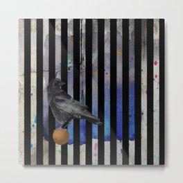 Crow Stripes Metal Print
