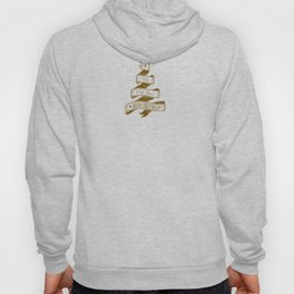 Merry Christmas- Glitter Gold Xmas Typography Hoody