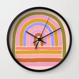 rainbow : of the heart Wall Clock
