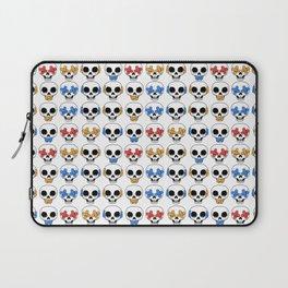 Cute Skulls No Evil II Pattern Laptop Sleeve
