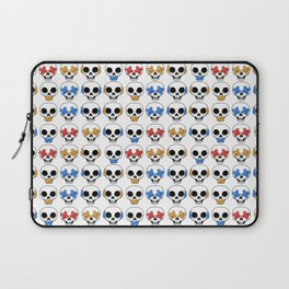 Cute Skulls No Evil II Pattern Laptop Sleeve