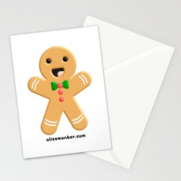 Cute Ginger Cookie Gingerbread Men Stationery Cards