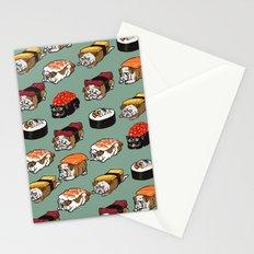 Sushi English Bulldog Stationery Cards
