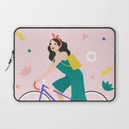 Racing bike girl Laptop Sleeve
