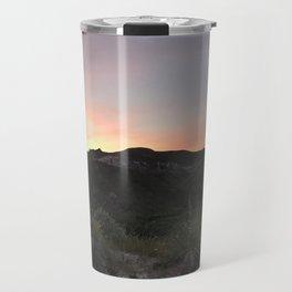Summer Sunset Over Montana Sagebrush Travel Mug