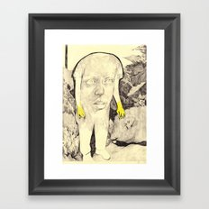 figure in a forest Framed Art Print