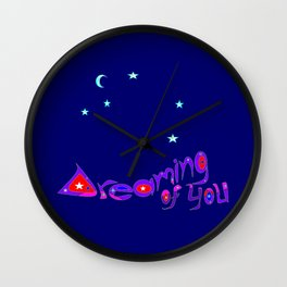 A Message of Love and Admiration Wall Clock
