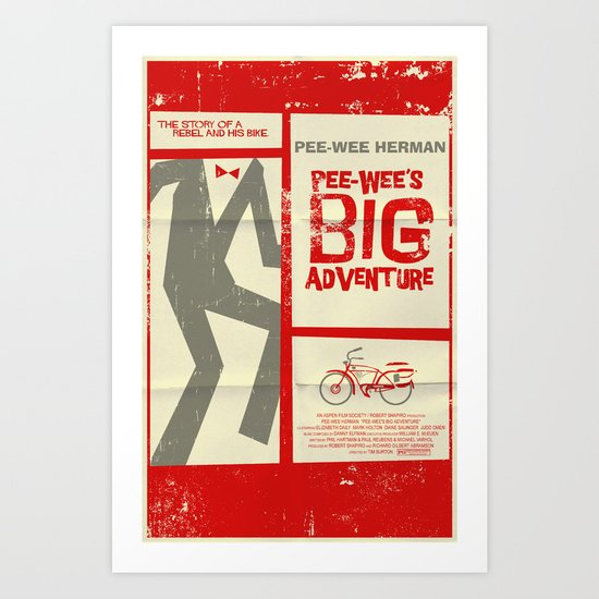 Pee-Wee's Big Adventure Art Print