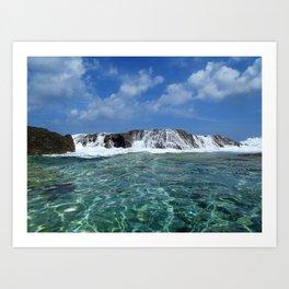 Caribbean Waterfall Art Print