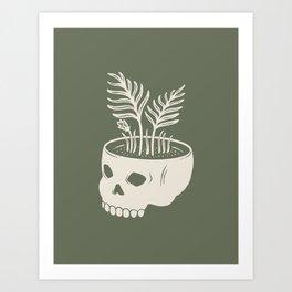 Skull Fern Art Print