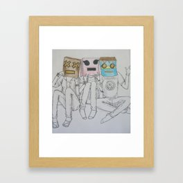 Let's Pretend to Be Robots Framed Art Print