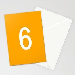NUMBER 6 (WHITE-ORANGE) Stationery Cards