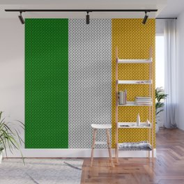 Flag of Ireland - knitted Wall Mural
