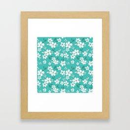 Torque Floral Framed Art Print