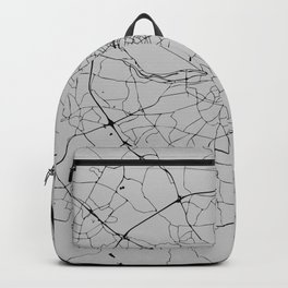 Dublin Street Map Grey Gray Backpack