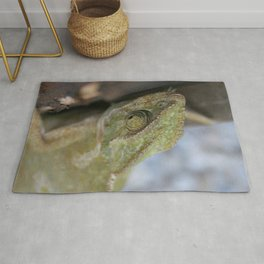 Wild Chameleon In Green Shades Rug
